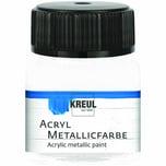 KREUL Acryl Metallicfarbe 20ml perlmutt-weiß