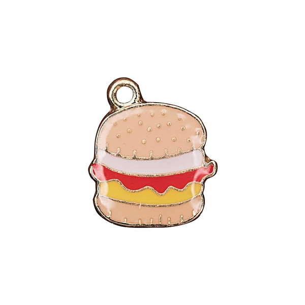 Jewellery Made by Me Anhänger Hamburger 12,5x12mm Emaille