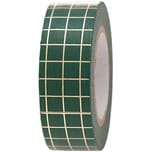Paper Poetry Tape kariert grün-gold 1,5cm 10m