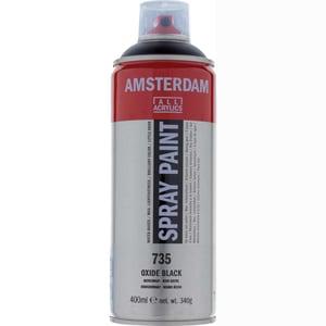 AMSTERDAM Spray 400ml oxidschwarz