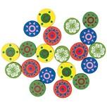 Rico Design Blüten rund mehrfarbig 1,6cm 20 Stück