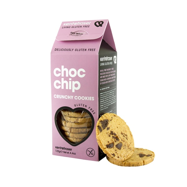 Kent&Fraser Butterkekse mit Schokoladenstückchen glutenfrei Choc Chip 125g