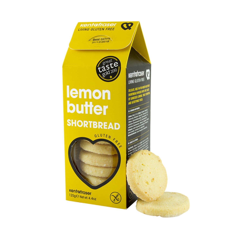 Kent&Fraser Zitronen Buttergebäck glutenfrei Lemon Butter Shortbread 125g