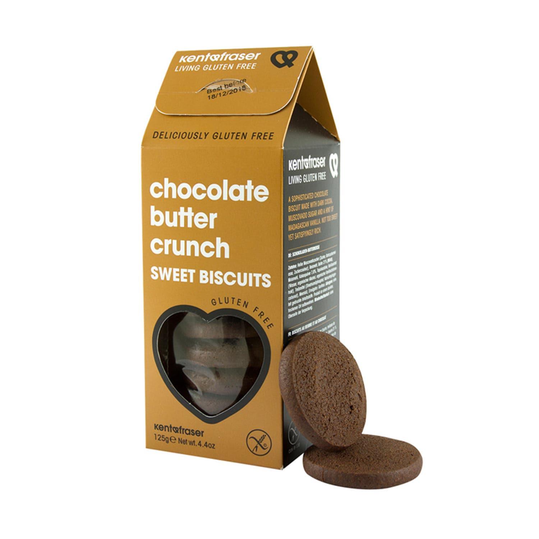 Kent & Fraser Butterkekse mit Kakao glutenfrei Chocolate Butter Crunch 125 g