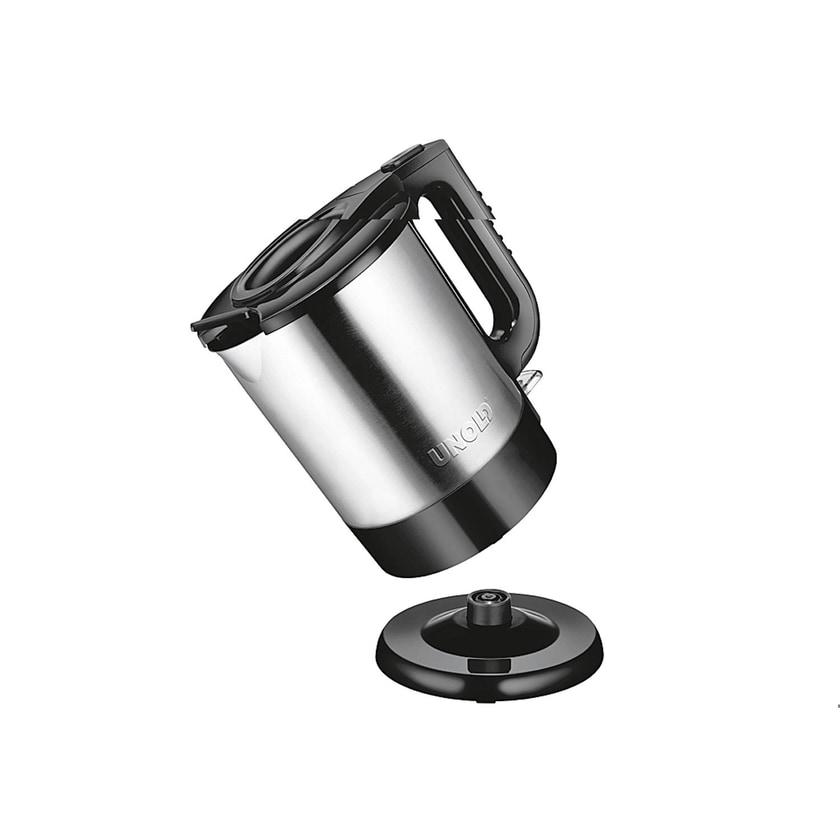 UNOLD Wasserkocher 1,5l schwarz/ silberfarben, 2200 Watt