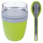 Mepal Ellipse Set Lunch Pot und Besteckset limetten grün
