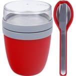 Mepal Ellipse Set Lunch Pot und Besteckset rot