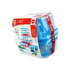 Emsa Frischhaltedosenset Clip & Close blau 9-teilig