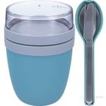 Mepal Ellipse Set Lunch Pot und Besteckset Nordic Green hellblau