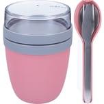 Mepal Ellipse Set Lunch Pot und Besteckset Nordic pink rosa
