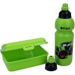 Fizzii Set mit Trinkflasche Brotdose und Ersatzverschluss Traktor 0,6l