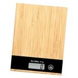 Kesper Küchenwaage Bambus 20,8 x 15,8 x 2,3 cm braun/ schwarz