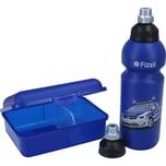 Fizzii Set mit Trinkflasche Brotdose und Ersatzverschluss Polizei 0,6l