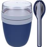 Mepal Ellipse Set Lunch Pot und Besteckset Nordic Denim blau