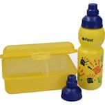 Fizzii Trinkflasche 330ml und Brotdose Hände 3-er Set