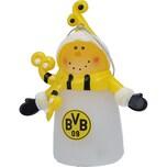 BVB Borussia Dortmund Schneemann leuchtend 6,5x3,5x7,9cm