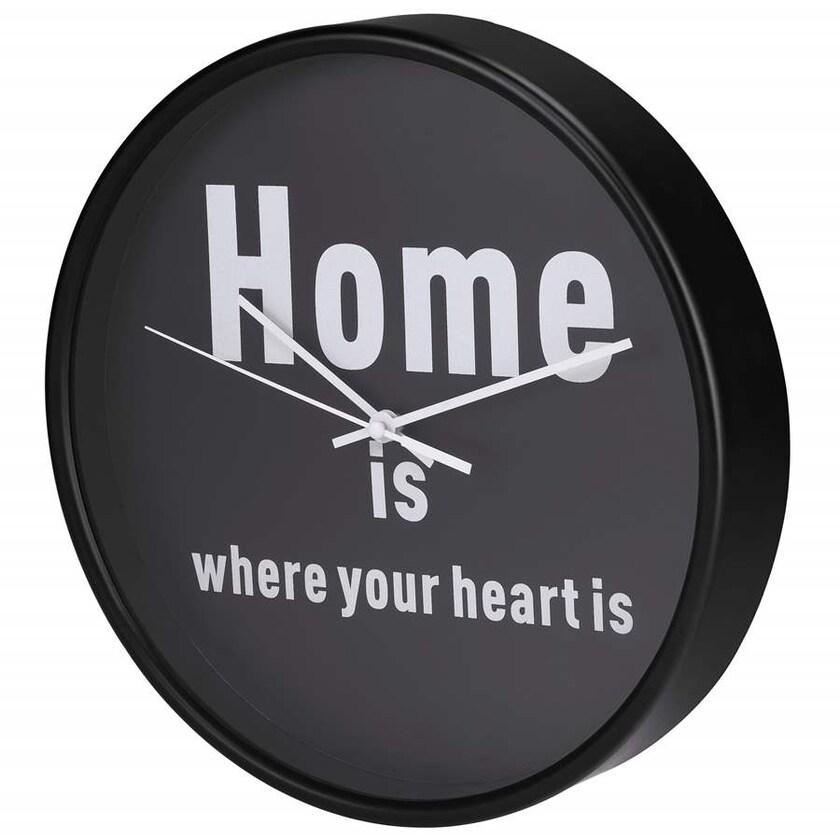 Hama Wanduhr HG-260 geräuscharm Design Home is where your heart is