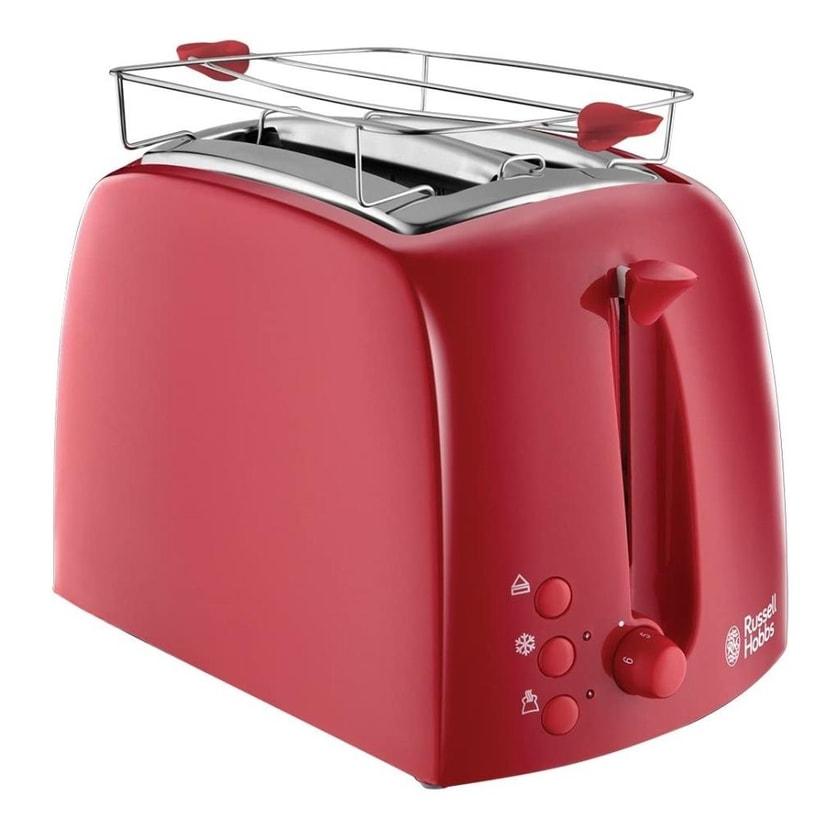 Russell Hobbs Textures Toaster 2-Scheiben 850W Sandwich Brötchen-Aufsatz Auftau