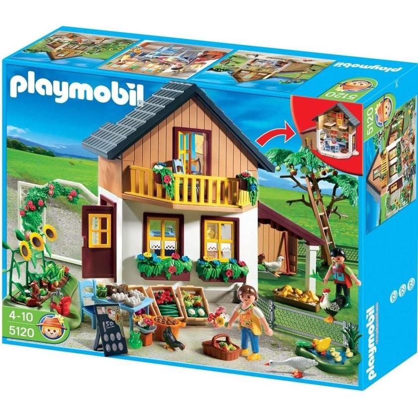 Playmobil Country Bauer-Haus mit Hofladen 5120 Tiere Gebäude Bauern-Hof Gemüse