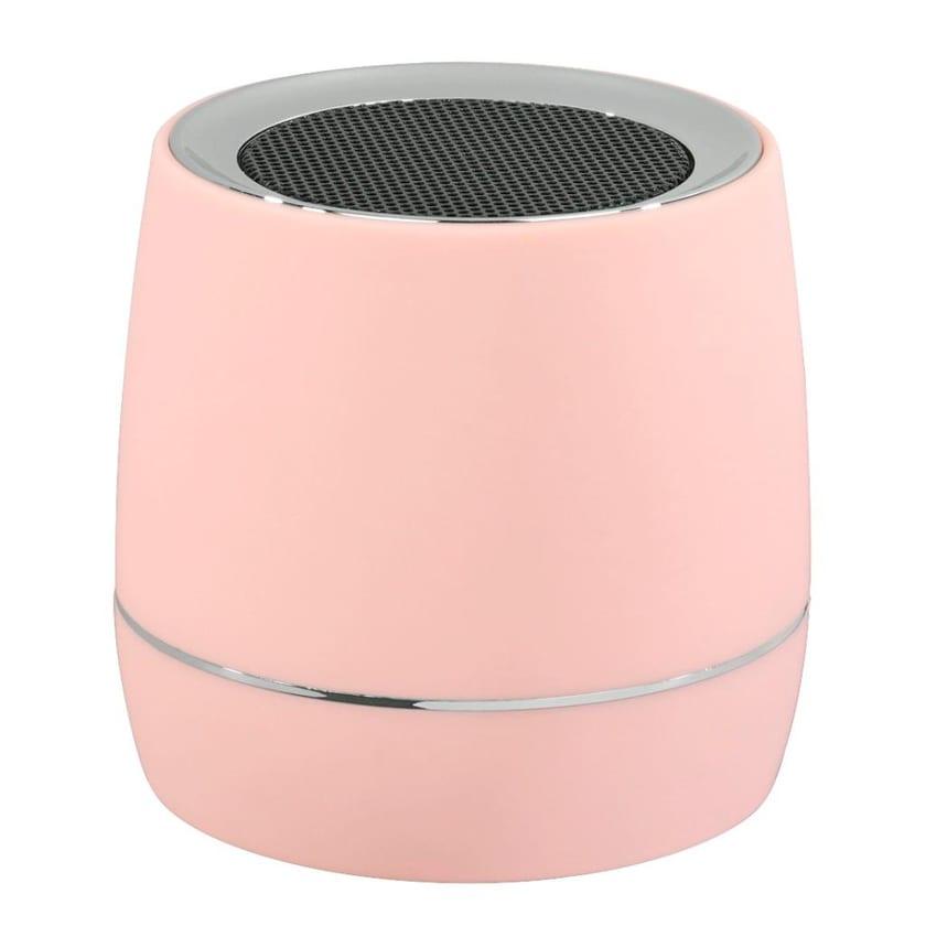 Hama Mobiler Mini Lautsprecher mit Akku Rosa 3,5mm Klinke Reise Box tragbar