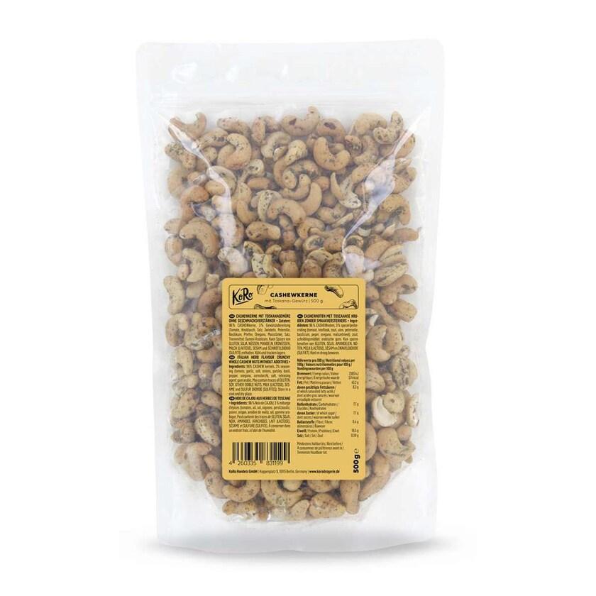 KoRo Cashewkerne mit Toskanagewürz ohne Geschmacksverstärker 500g