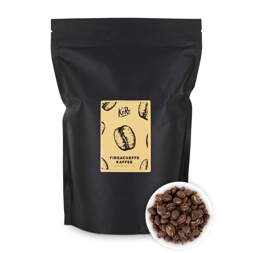 KoRo Yirgacheffe Kaffee ganze Bohne 1 kg