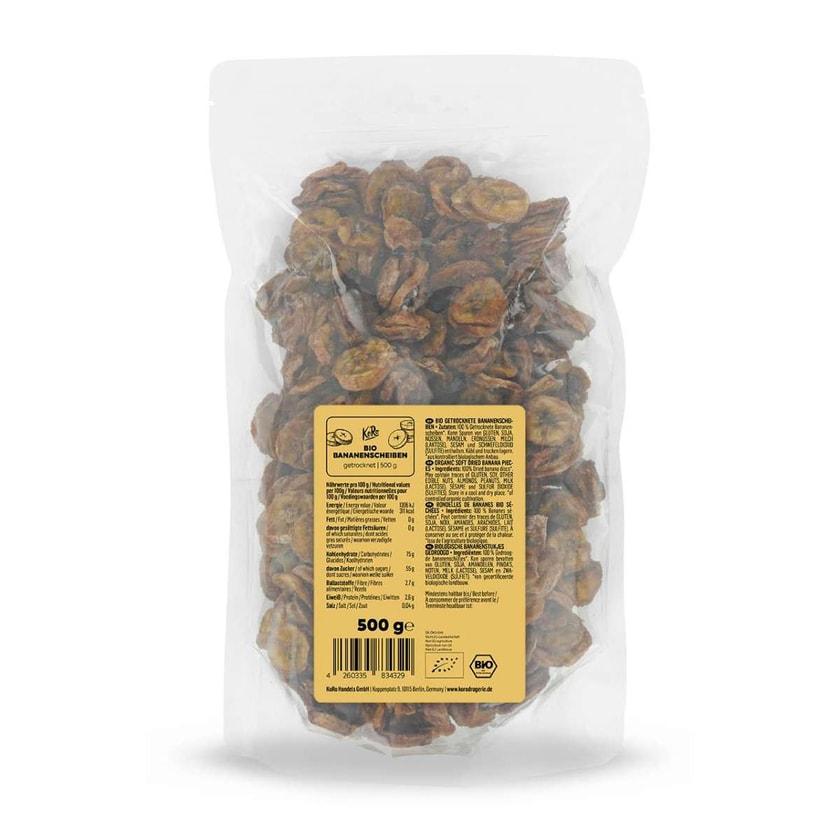 koro Bio Bananenscheiben getrocknet aus Sri Lanka 500 g