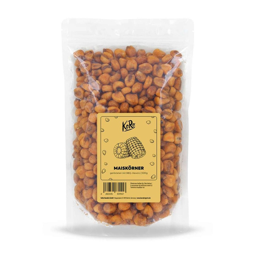 KoRo Geröstete Maiskörner mit BBQ-Gewürz 500g