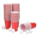 Beer Pong Set 100 Becher + 6 Bälle