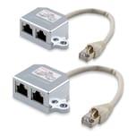 2x T-Adapter Netzwerkkabel ISDN