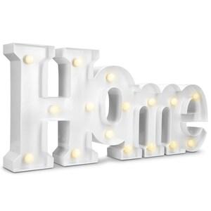 LED Metall Leuchtzeichen - Home