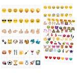 126 Einschubplättchen Emoji für LED Lichtbox A4