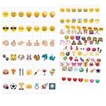 126 Einschubplättchen Emoji für LED Lichtbox A6