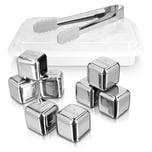 Edelstahl-Eiswürfel – Silber - 8er Set