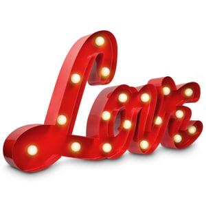 LED Metall Leuchtzeichen - Love - V2