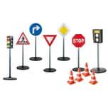 Playfun 11tlg Verkehrserziehung Set mit Verkehrszeichen Kinder-Ampel & Blitzer