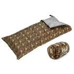 L.A. Trekking Kinder-Schlafsack Geneva 145 x 65 cm Camouflage Muster geeignet bis +3°C