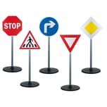 Playfun Kinder Verkehrserziehung Set mit Verkehrszeichen 5-tlg.