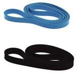 L.A. Sports Fitnessbänder 2er Set Widerstandsband und Klimmzugband aus Latex 208cm