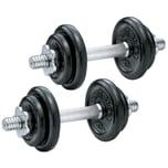 Body Coach Hantel Set 20 kg 2 x Kurzhantel Stange mit je 10 kg