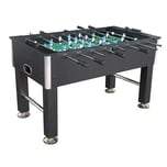 "L.A. Sports Kicker Table Liverpool Profi Kickertisch 5"" schwarz chrome"