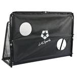 L.A. Sports 2-in-1 Torschusswand Soccer Goal Champion Fußball-Tor mit Netz & Torwand