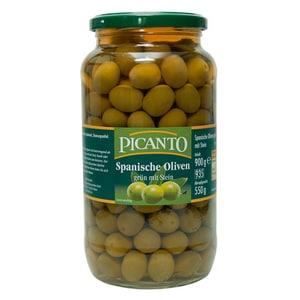 Picanto - Spanische Oliven grün mit Stein - 900g/550g