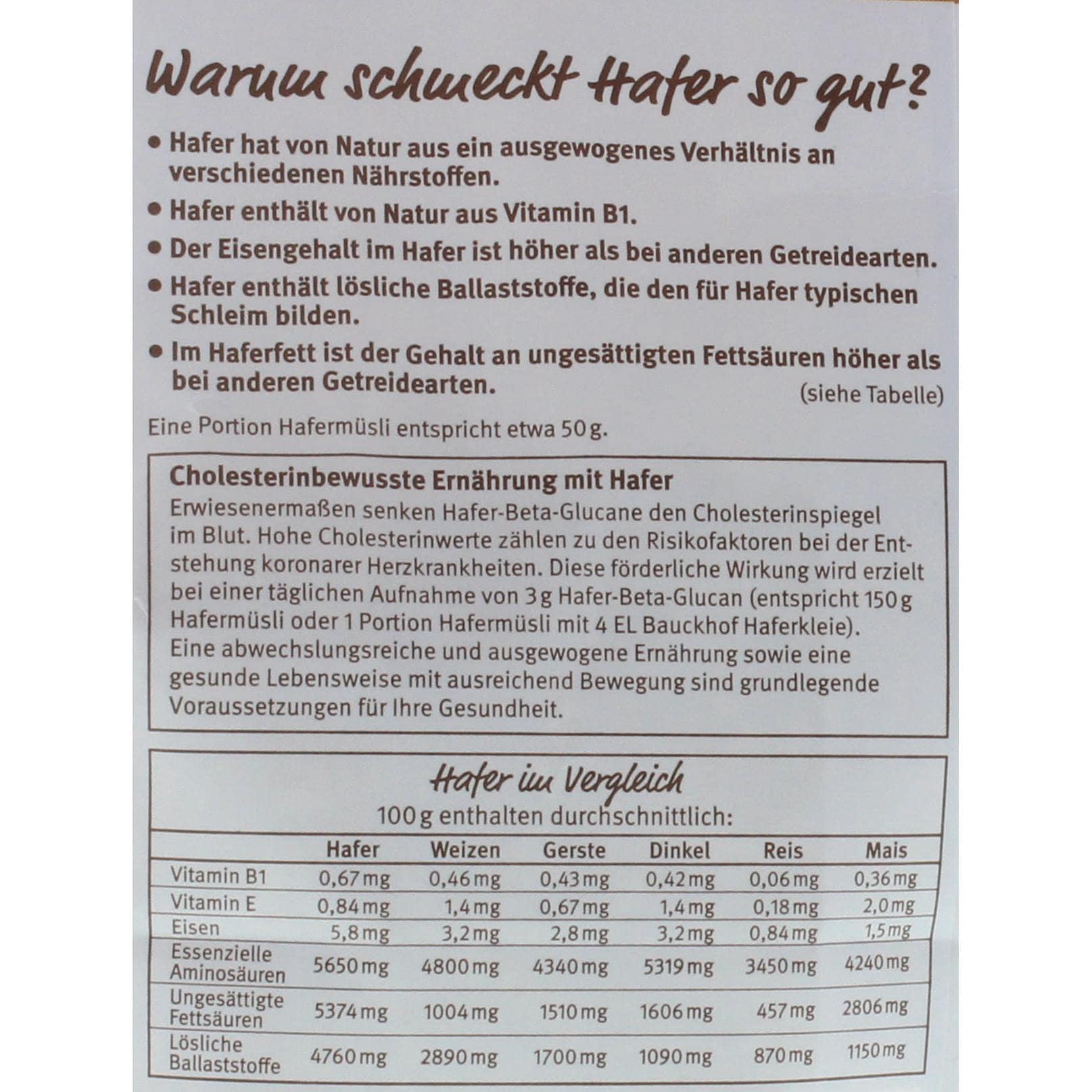 Bauck Hof Hafer Müzli Cranberry Bio 425g
