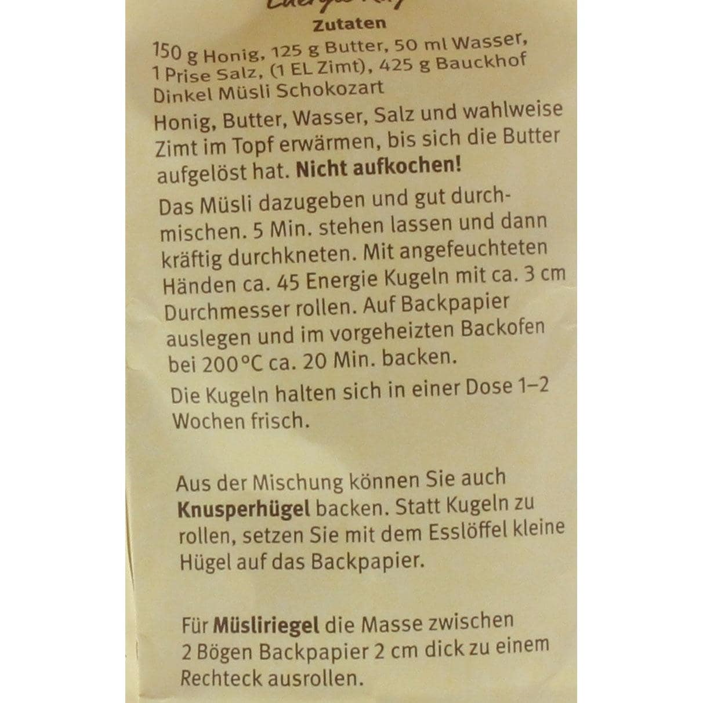 Bauck Hof Bio Dinkel Müzli Schokozart 425g