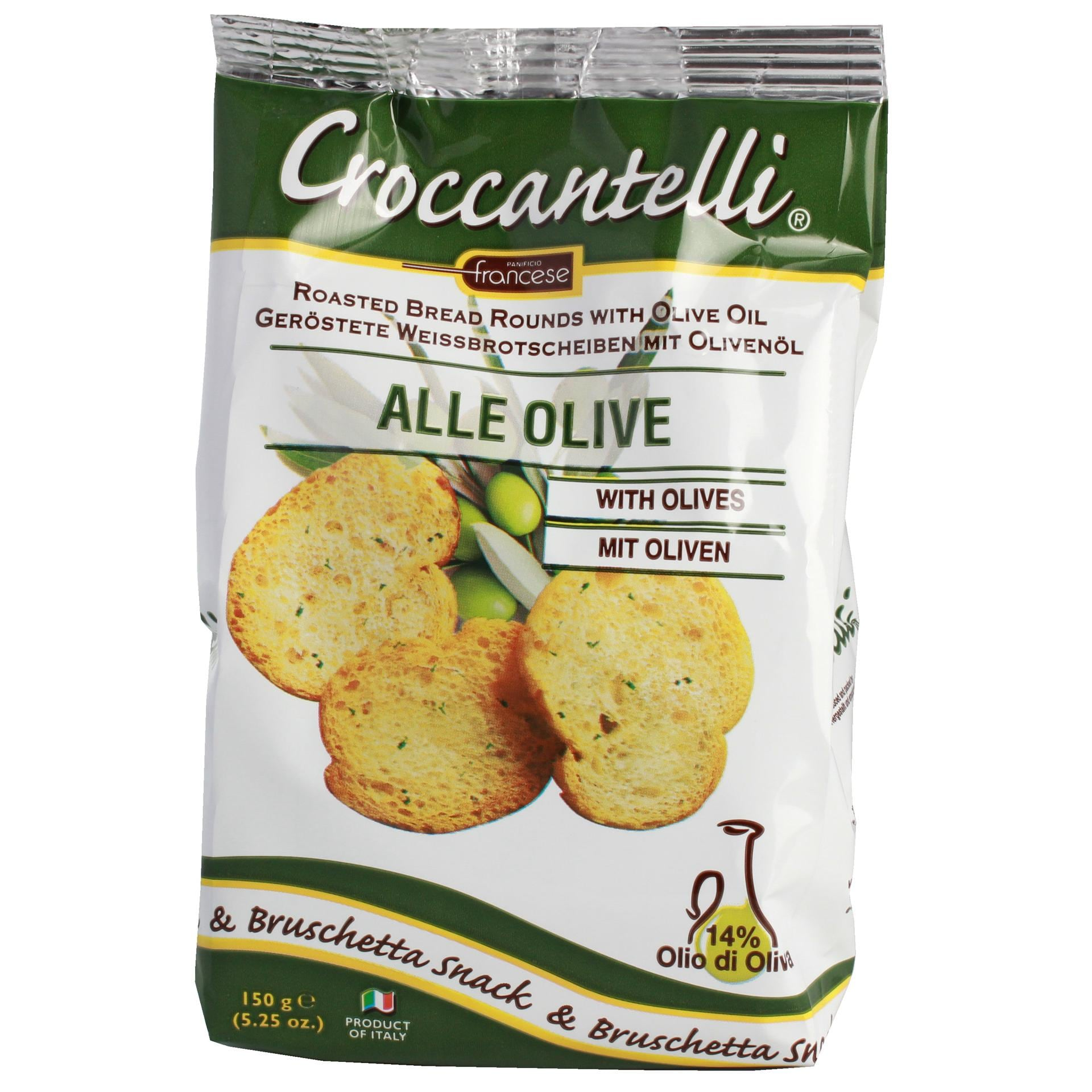 Croccantelli - geröstete Weißbrotscheiben mit Olivenöl Italien Topping Salat Snack Knabberei - 150g