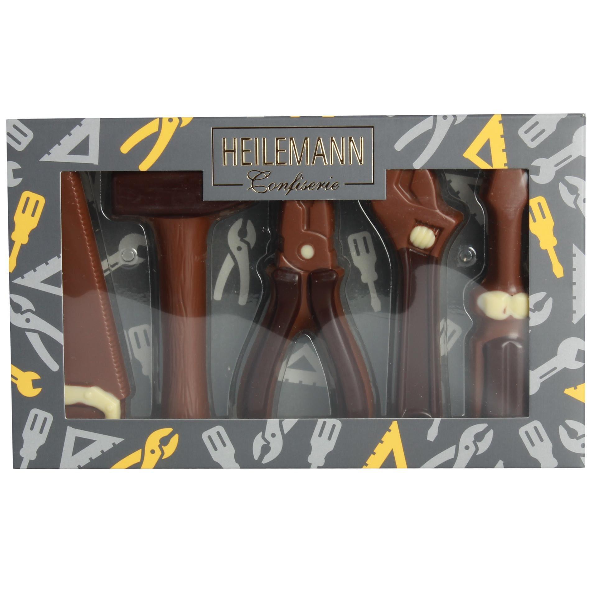 Heilemann - Schoko-Werkzeug Schokoladenfiguren Confiserie Präsent Vollmilchschokolade - 100g