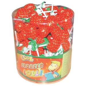 Cool Erdbeer Brause Lolli 100St/1,4kg