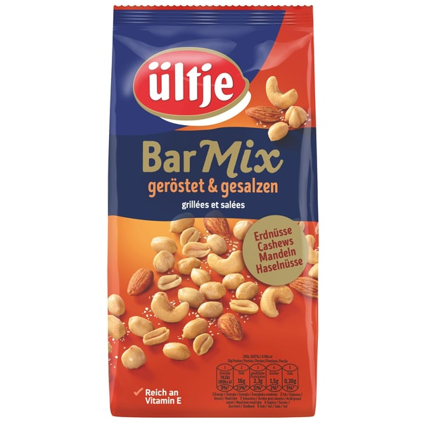 Ültje - Bar-Mix Nussmischung Erdnüsse Mandeln Cashewkerne Haselnüsse gesalzen geröstet - 1kg