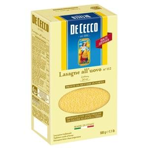 De Cecco Lasagne all'uovo Lasagneblätter Nudeln 500g